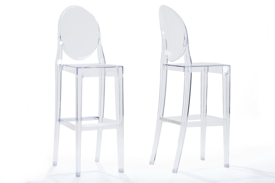 Baxton StudioInfinity Clear Plastic Contemporary Bar Stool  : BS 448A Clear3 from www.baxtonstudiooutlet.com size 900 x 601 jpeg 65kB