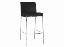 Baxton Studio Mesa Black Leather Bar Stool (Set of 2) Mesa Black Leather Bar Stool wholesale, wholesale furniture, restaurant furniture, hotel furniture, commercial furniture