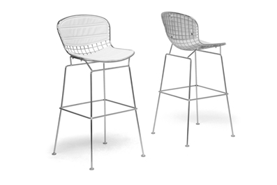 Baxton Studio Tolland Modern Bar Stool With White Cushion Affordable Modern Furniture In Chicago