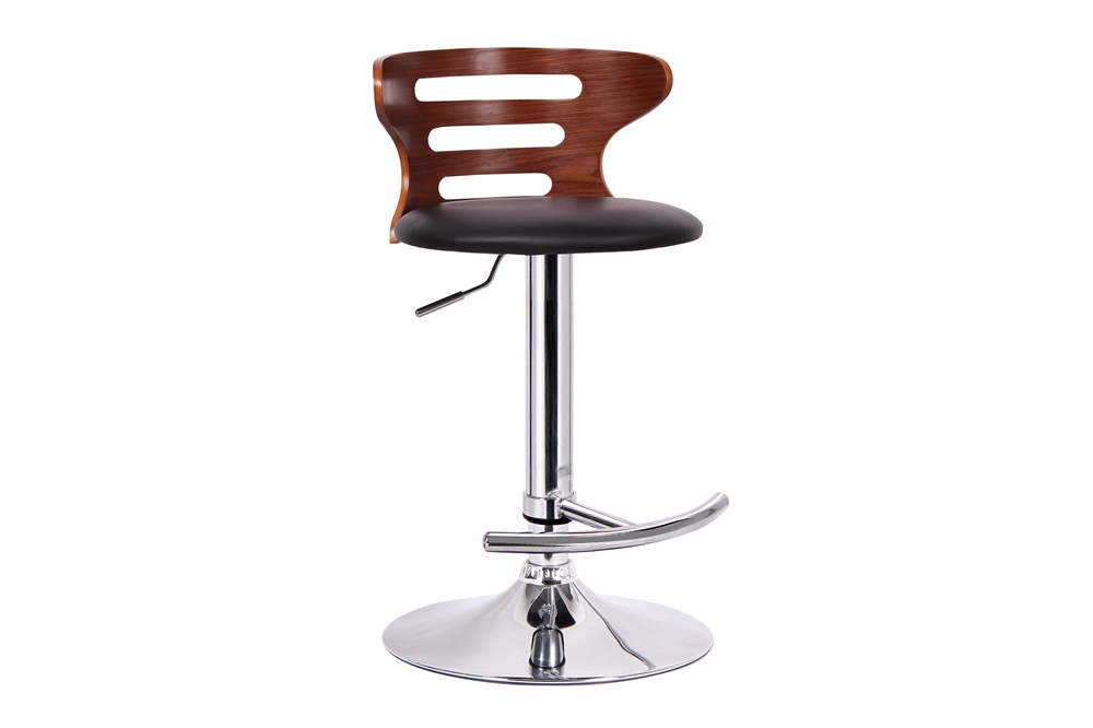 Buell Walnut And Black Modern Bar Stool Affordable Modern Furniture In Chicago