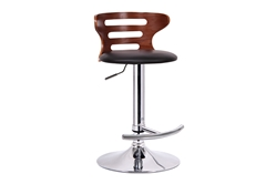 Baxton Studio Buell Walnut and Black Modern Bar Stool affordable modern furniture in Chicago, Baxton Studio Buell Walnut and Black Modern Bar Stool,  Bar Furniture  Chicago