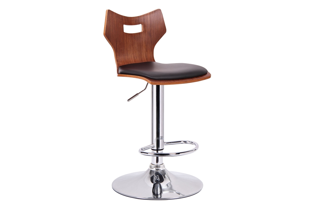 Amery Walnut And Black Modern Bar Stool Affordable Modern Furniture In Chicago