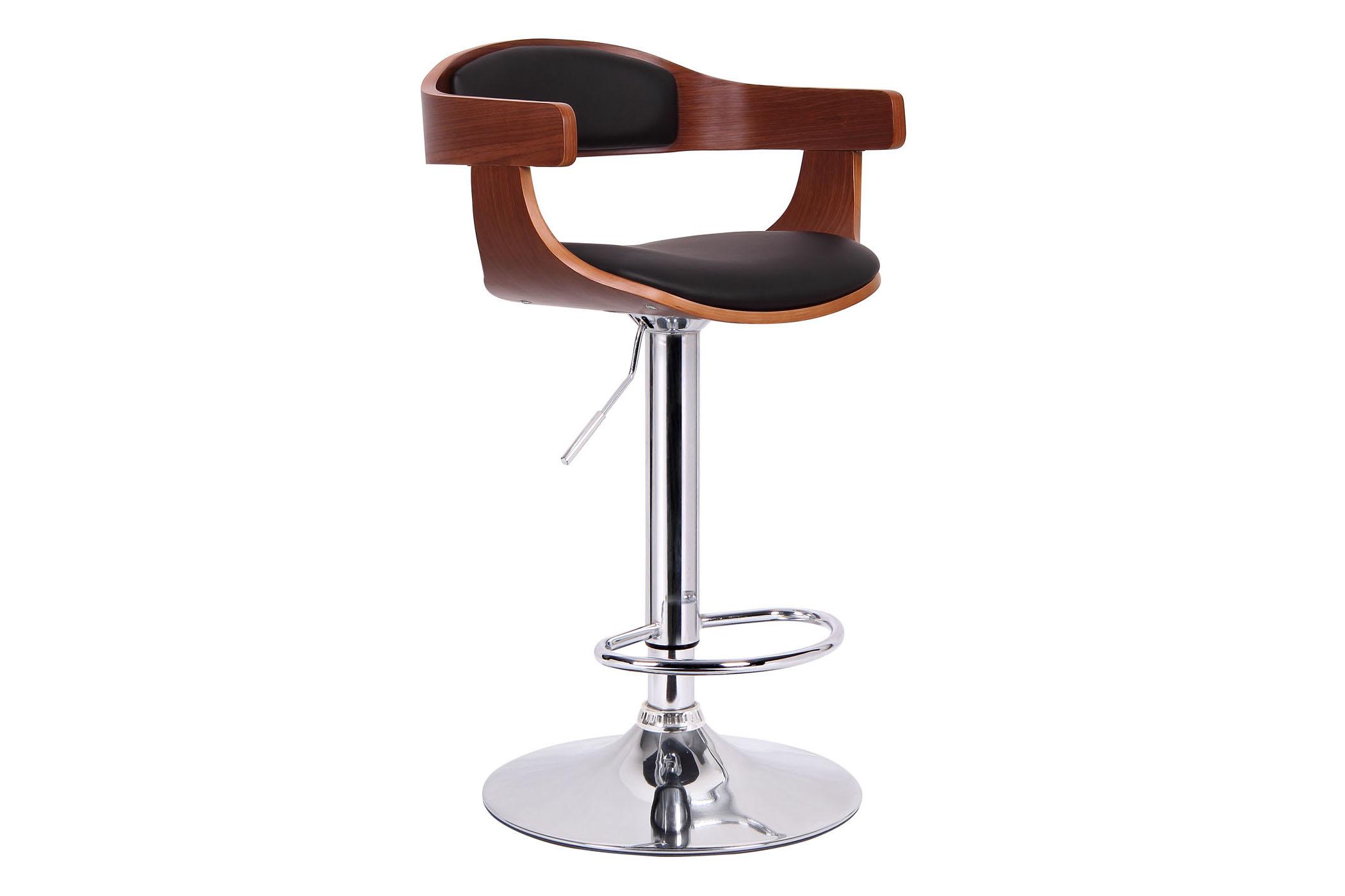 Strange Garr Walnut And Black Modern Bar Stool Affordable Modern Andrewgaddart Wooden Chair Designs For Living Room Andrewgaddartcom
