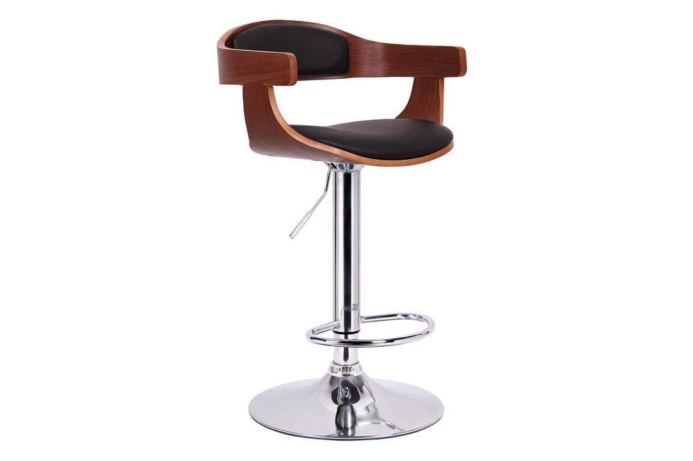 Garr Walnut And Black Modern Bar Stool Affordable Modern Furniture In Chicago