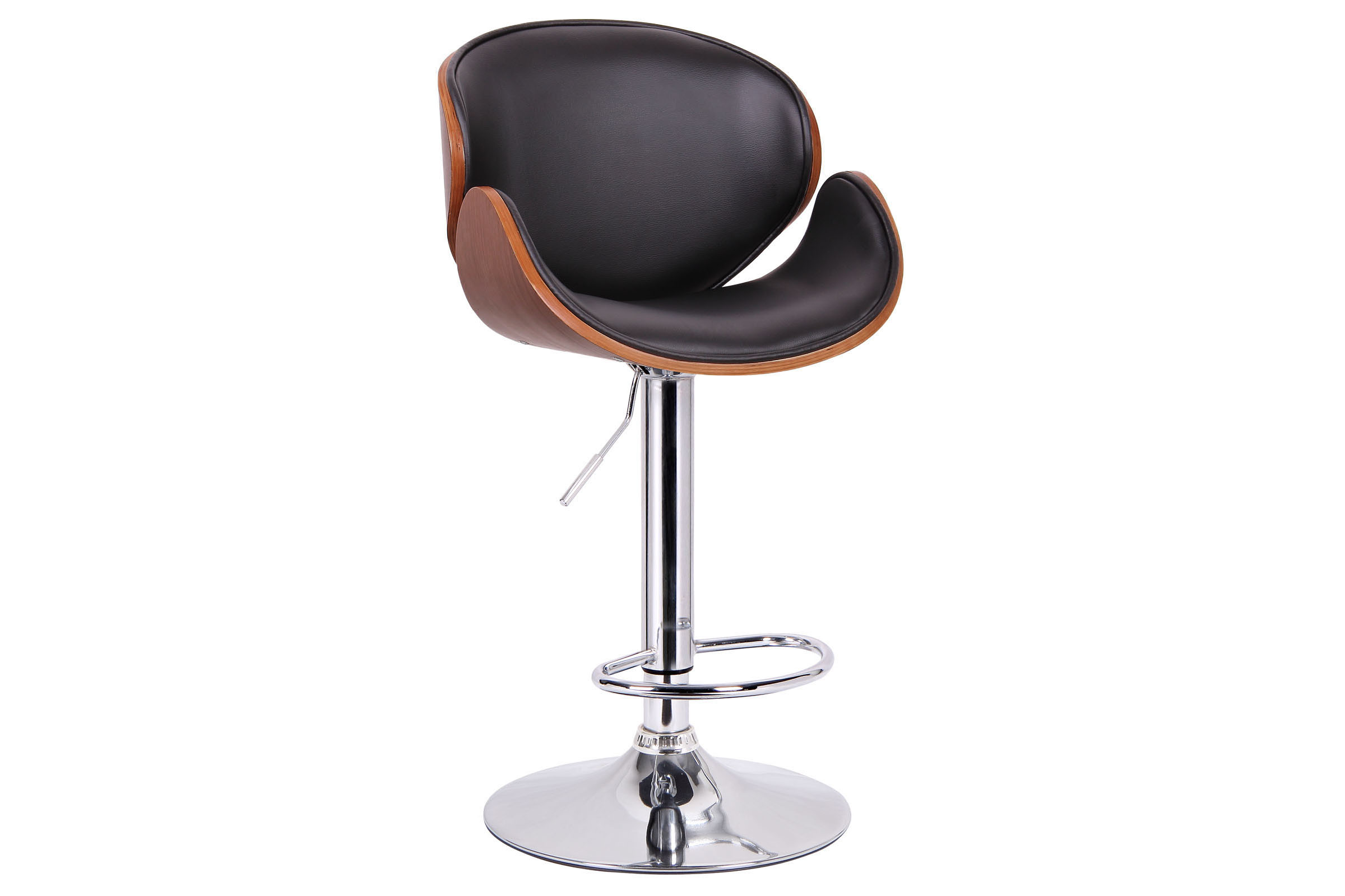Excellent Crocus Walnut And Black Modern Bar Stool Affordable Modern Unemploymentrelief Wooden Chair Designs For Living Room Unemploymentrelieforg