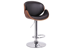 Baxton Studio Crocus Walnut and Black Modern Bar Stool affordable modern furniture in Chicago, Baxton Studio Crocus Walnut and Black Modern Bar Stool,  Bar Furniture  Chicago