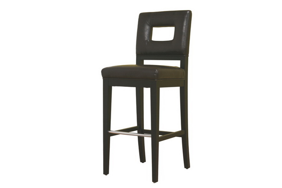 Faustino Brown Leather Bar Height Bar Stool 30 Affordable Modern Furniture In Chicago
