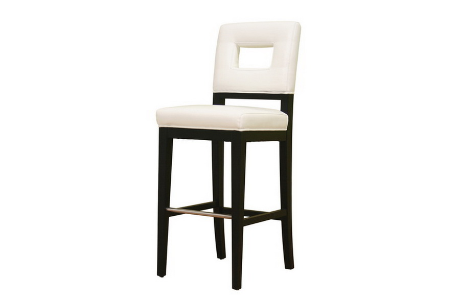 Faustino Cream Leather Barstool 30 Affordable Modern Furniture In Chicago