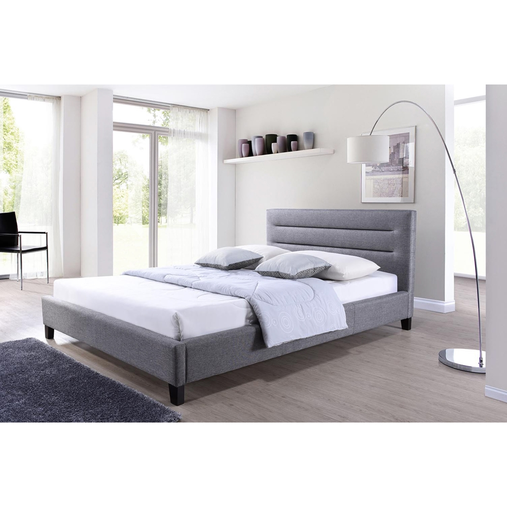 Baxton studio hillary modern and contemporary king size - Contemporary king size bedroom furniture ...
