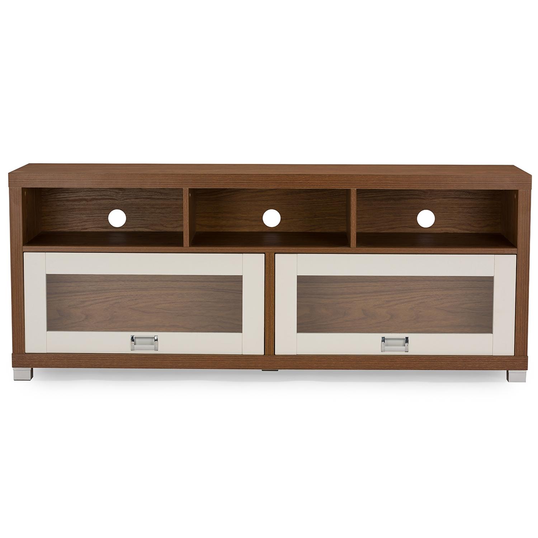 modern tv stand white. baxton studio swindon modern two-tone walnut and white tv stand with glass doors tv