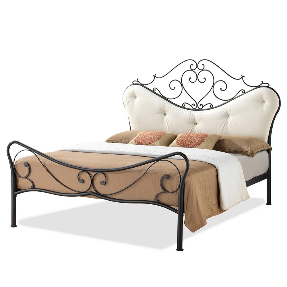 Rocking Bed Frame baxton studio alanna queen size shabby chic metal platform bed