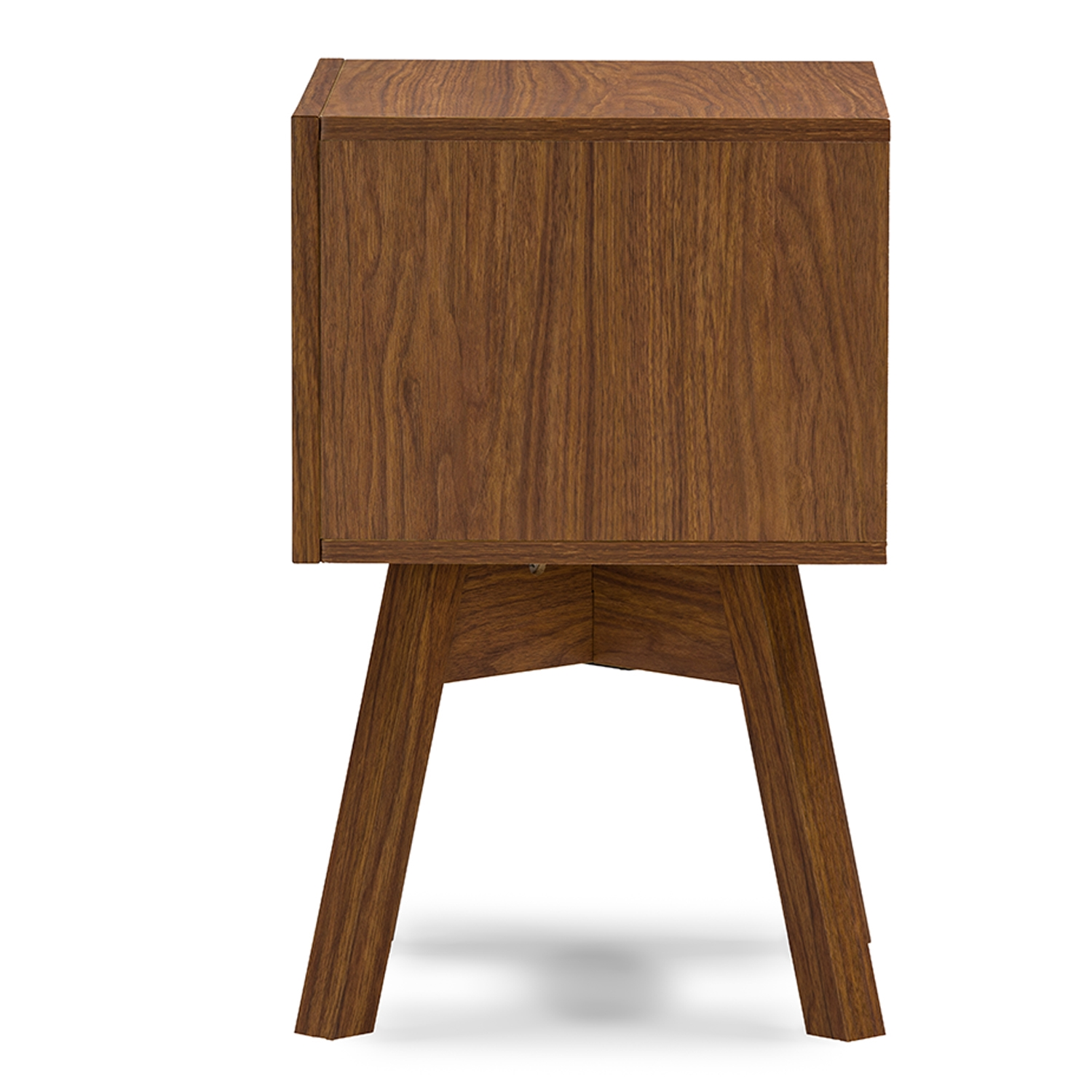 ... Baxton Studio Warwick Two Tone Walnut And White Modern Accent Table And  Nightstand   BSOST ...