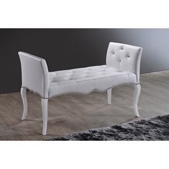 Baxton Studio Kristy Modern And Contemporary White Faux