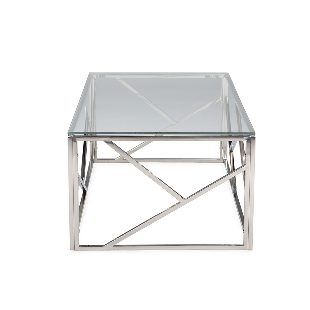 Baxton Studio Fiona Modern and Contemporary Stainless Steel Coffee ...
