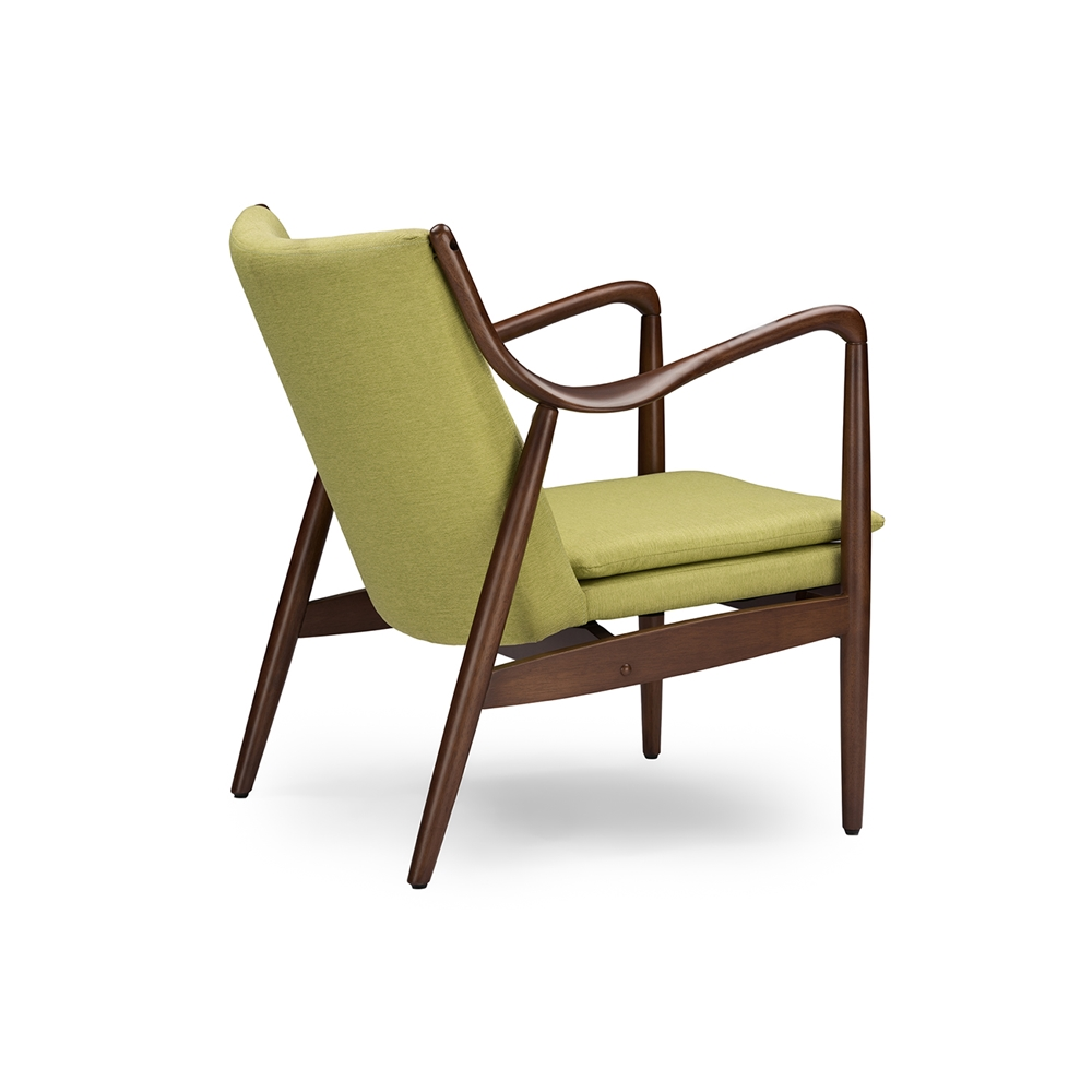 Baxton studio shakespeare mid century modern retro green for Mid century modern upholstered chair