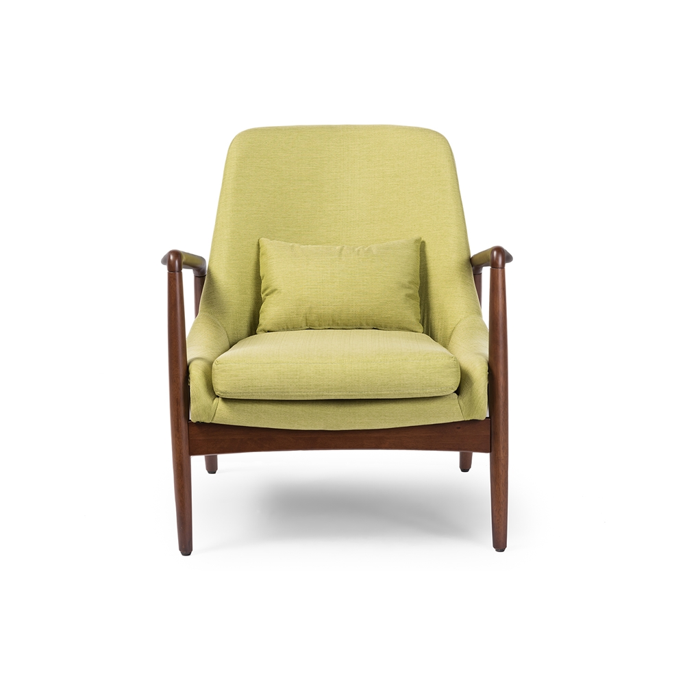 Baxton Studio Carter Mid Century Modern Retro Green Fabric