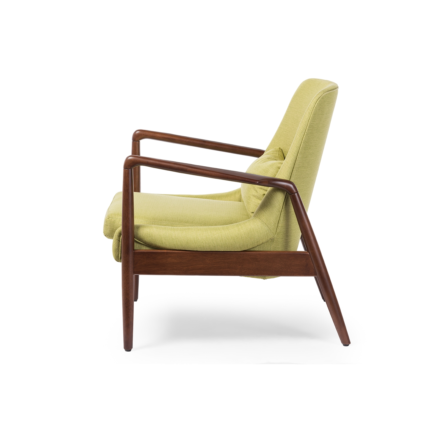Awesome Mid Century Accent Chair Part - 2: ... Baxton Studio Carter Mid-Century Modern Retro Green Fabric Upholstered  Leisure Accent Chair In Walnut ...