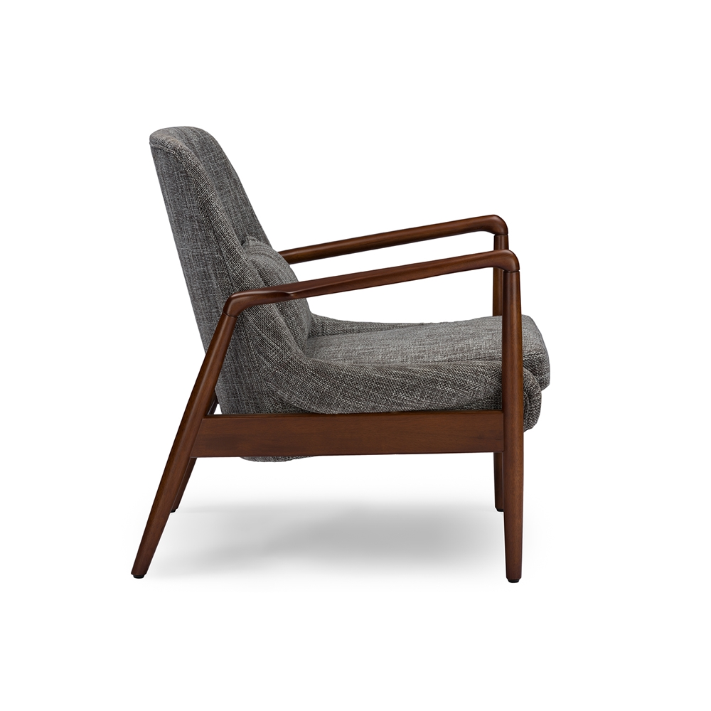 baxton studio carter mid-century modern retro grey fabric