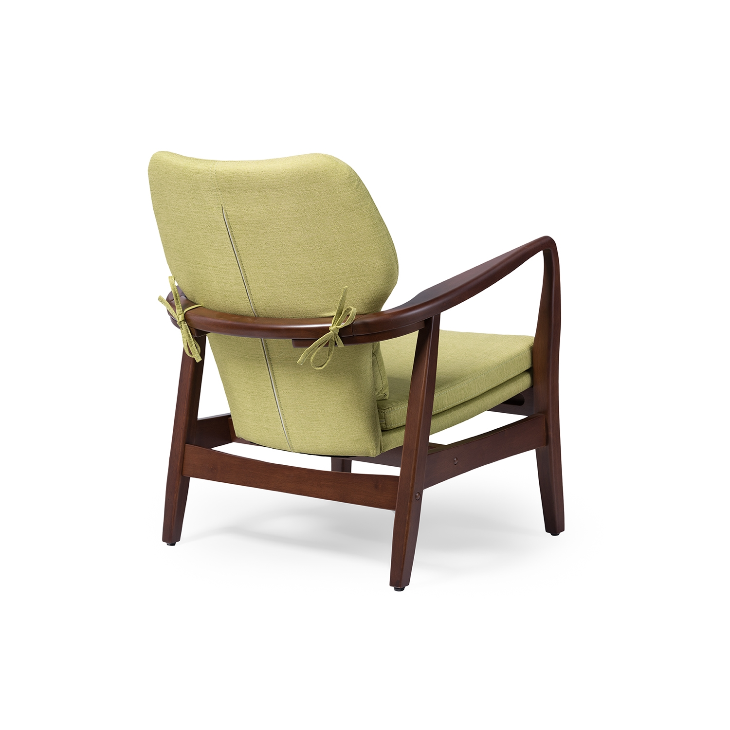 Mid Century Accent Chair Part - 50: ... Baxton Studio Rundell Mid-Century Modern Retro Green Fabric Upholstered  Leisure Accent Chair In Walnut ...