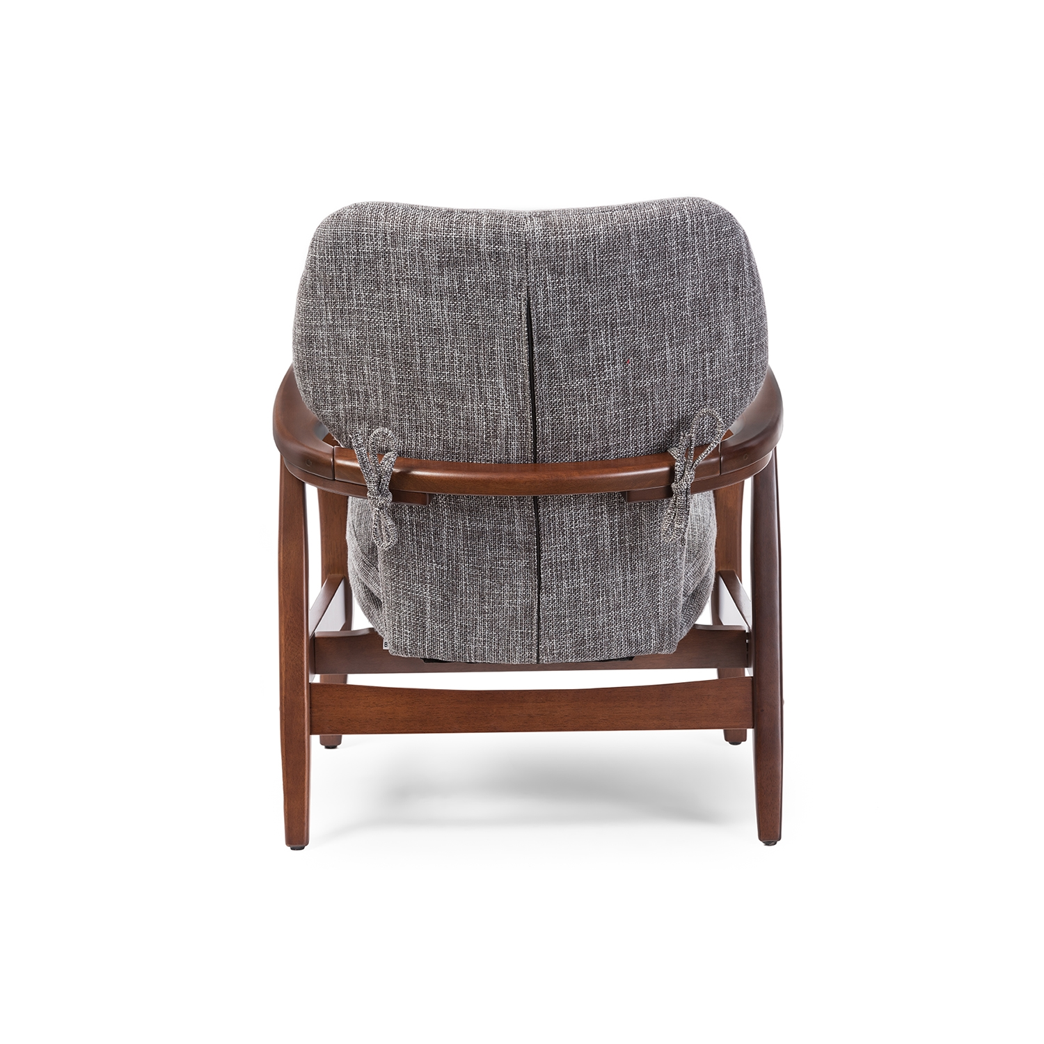 Mid Century Accent Chair Part - 16: ... Baxton Studio Rundell Mid-Century Modern Retro Grey Fabric Upholstered  Leisure Accent Chair In Walnut ...