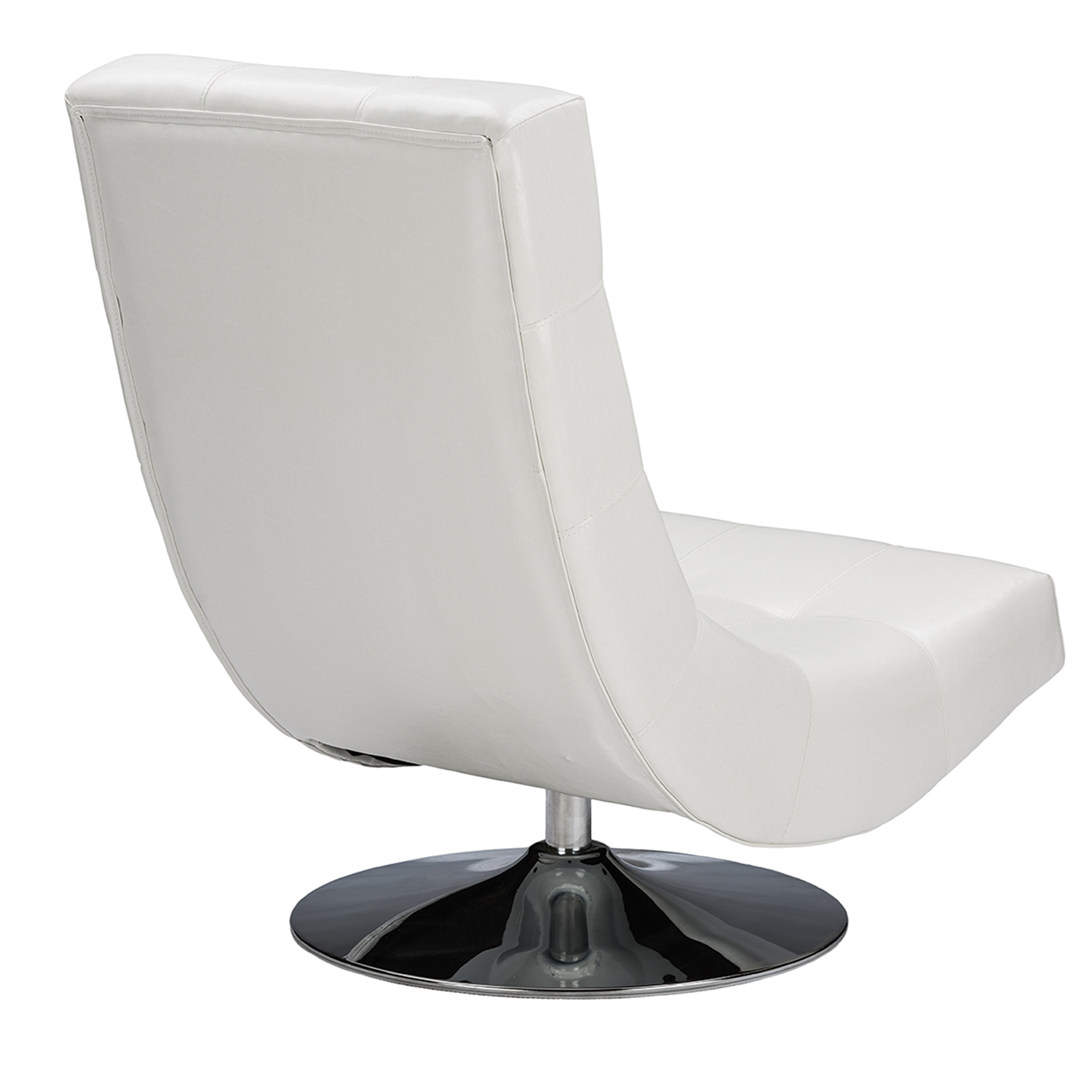 ... Baxton Studio Baxton Studio Elsa Modern And Contemporary White Faux  Leather Upholstered Swivel Chair With Metal ...