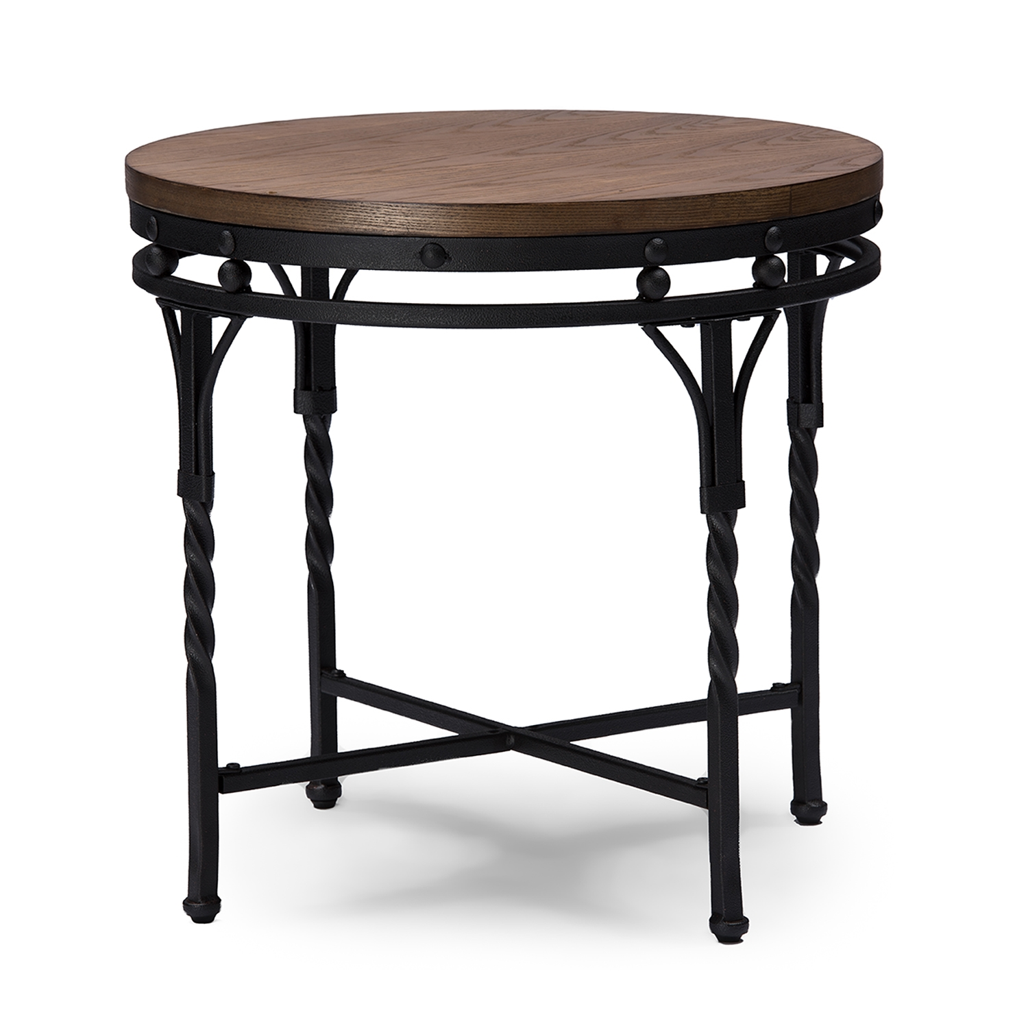 Round end table sets sydell espresso end table full size for Round coffee table sets