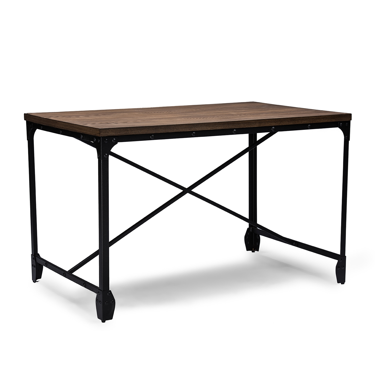 office wood desk. Baxton Studio Greyson Vintage Industrial Antique Bronze Home Office Wood Desk