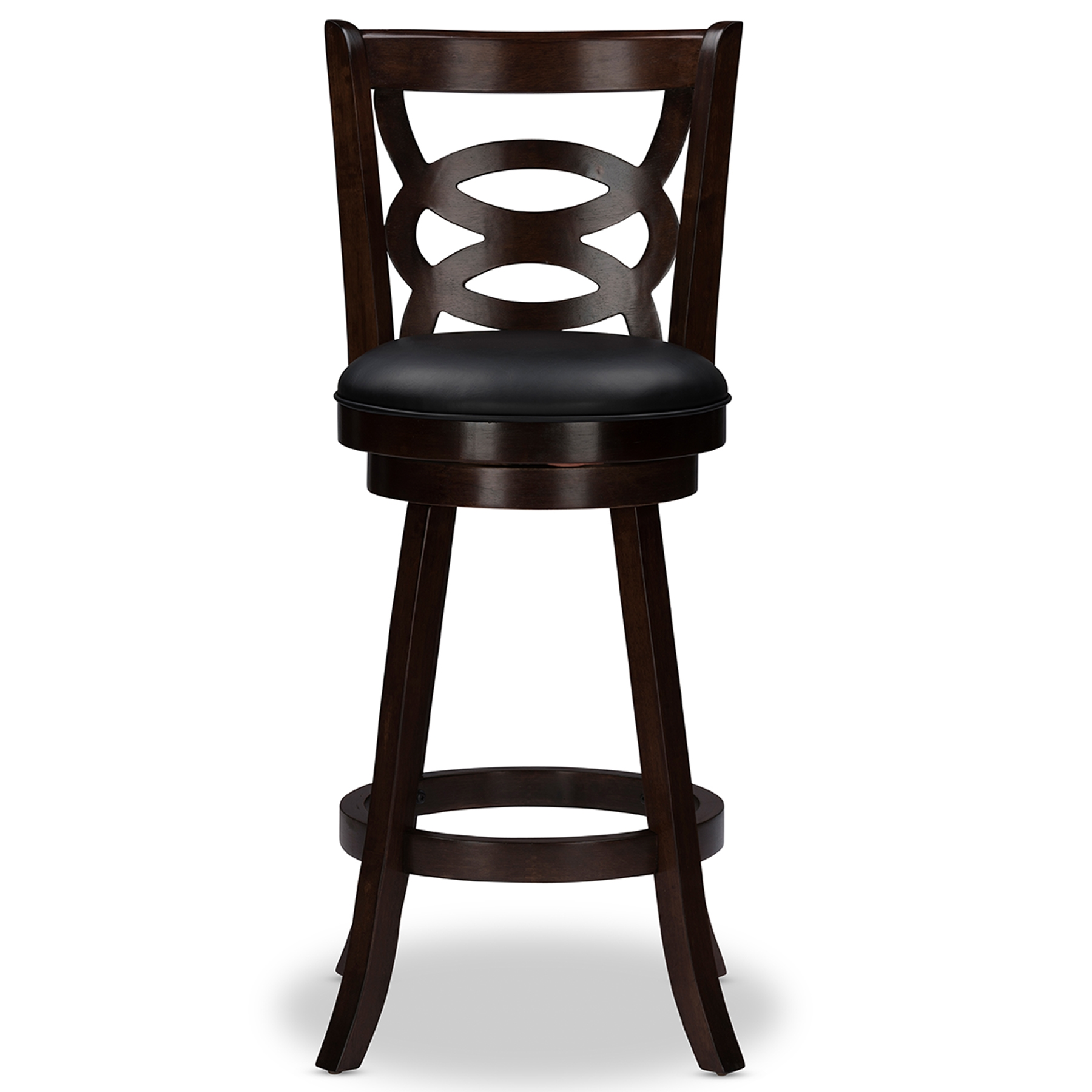 Baxton Studio Anthea Espresso Brown 29  Swivel Bar Stool with Upholstered Seat (Set of 2)  sc 1 st  Baxton Studio Outlet & Baxton Studio Anthea Espresso Brown 29