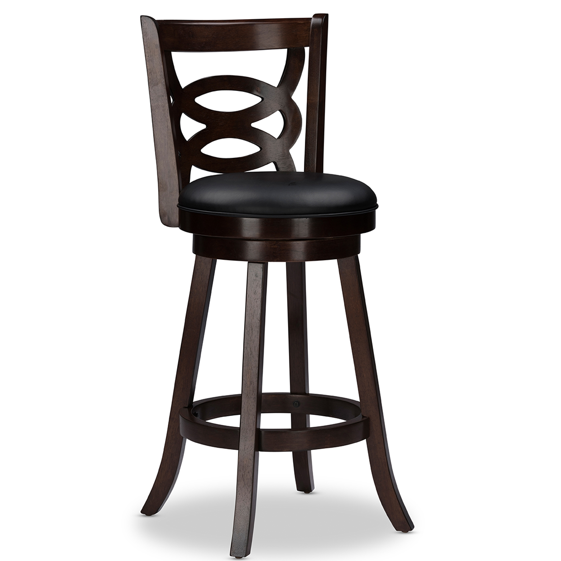 ... Baxton Studio Anthea Espresso Brown 29  Swivel Bar Stool with Upholstered Seat (Set of ...  sc 1 st  Baxton Studio Outlet & Baxton Studio Anthea Espresso Brown 29