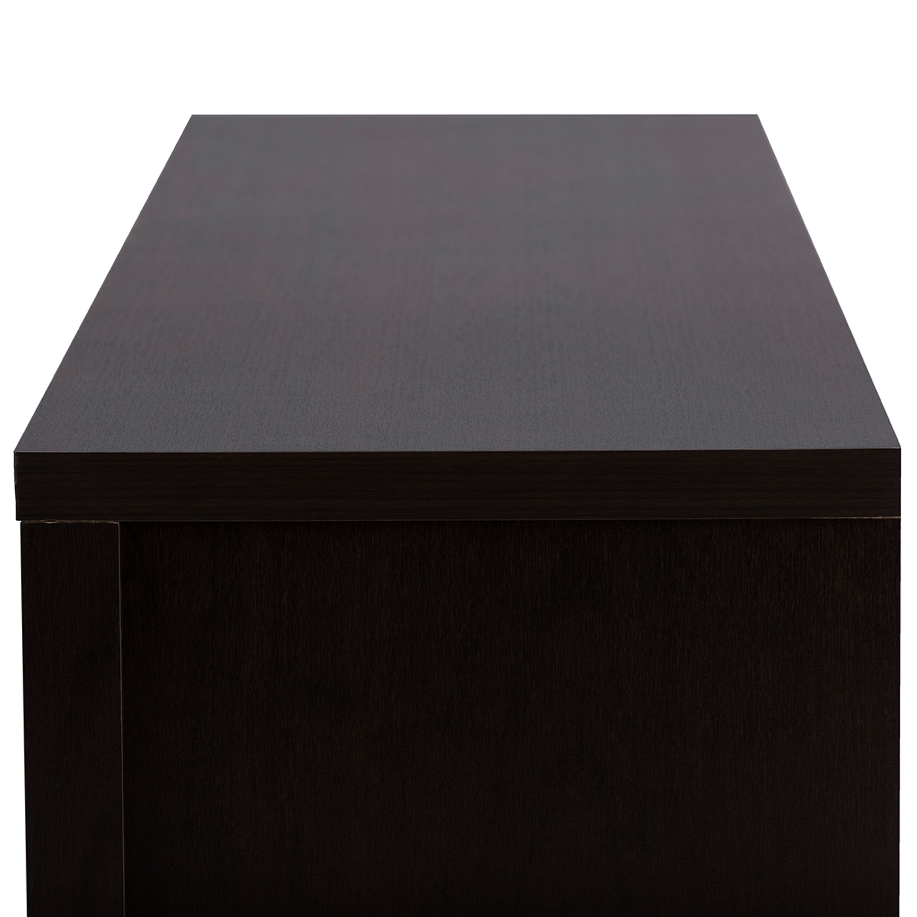 ... Baxton Studio Gerhardine Dark Brown Wood 70 Inch TV Cabinet With 2  Sliding Doors And ...