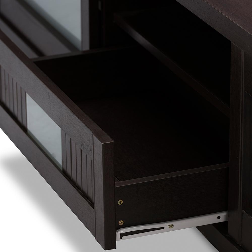 Baxton studio gerhardine dark brown wood 70 inch tv for Armoire television salon