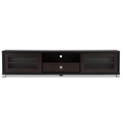 30c68ecf6ec Baxton Studio Beasley 70-Inch Dark Brown TV Cabinet with 2 Sliding Doors  and Drawer