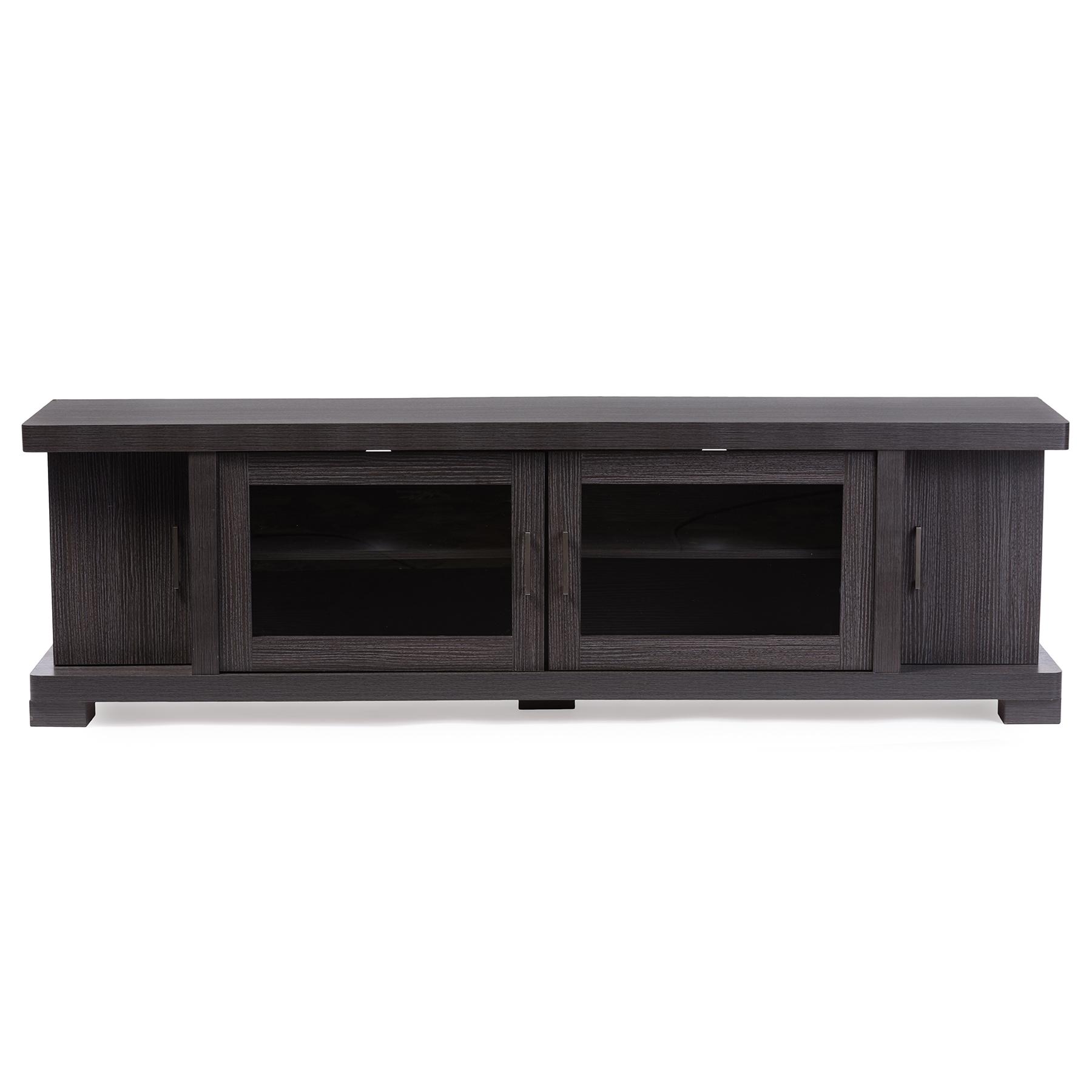 Baxton Studio Viveka 70 Inch Dark Brown Wood Tv Cabinet