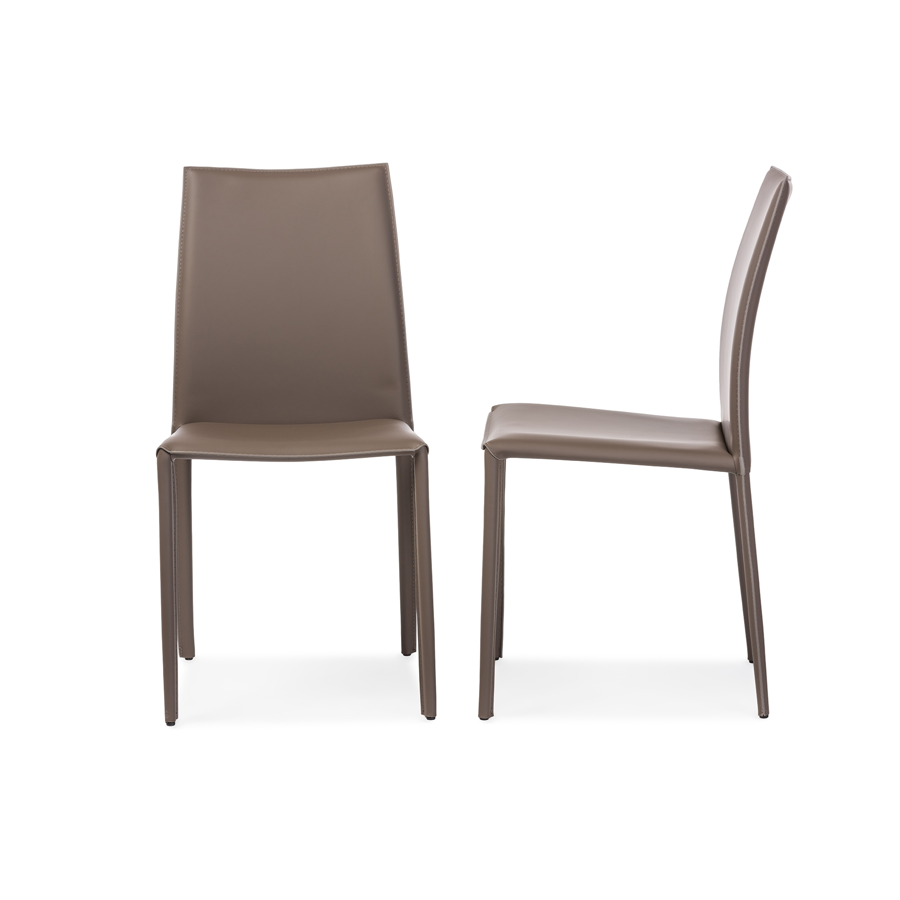 dining chairs contemporary leather. baxton studio rockford modern and contemporary taupe bonded leather upholstered dining chair - bsoalc-1025 chairs