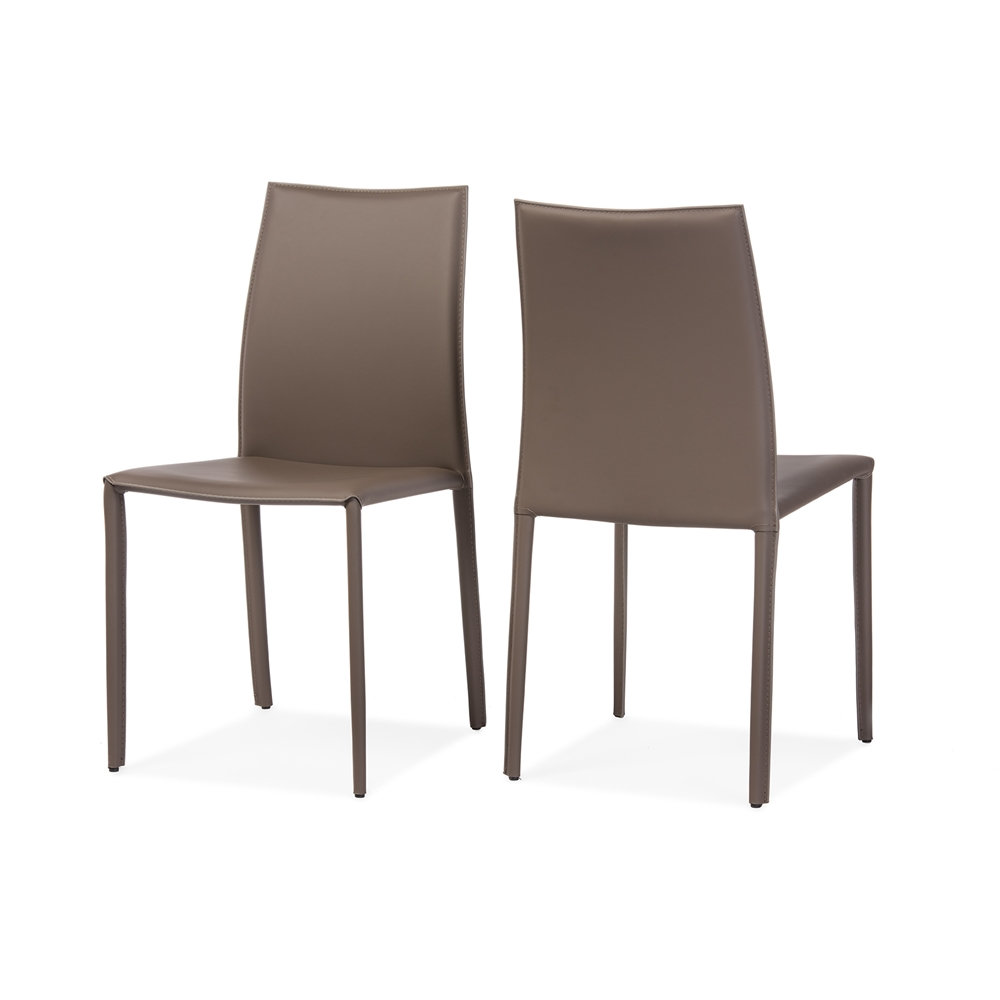 Baxton studio rockford modern and contemporary taupe for Upholstered dining chairs contemporary