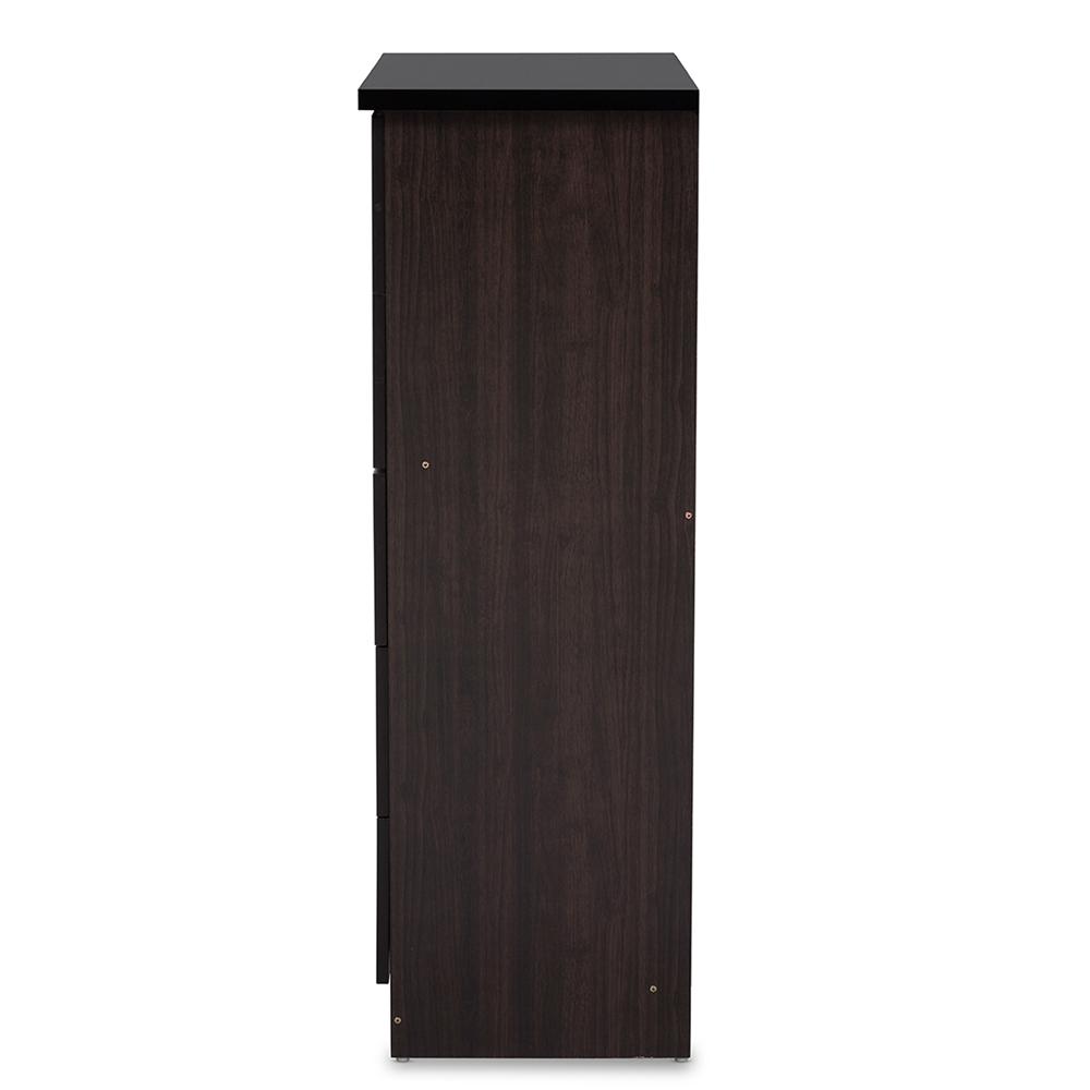 baxton studio colburn modern and contemporary drawer dark brown  -  baxton studio colburn modern and contemporary drawer dark brownfinish wood tallboy storage chest