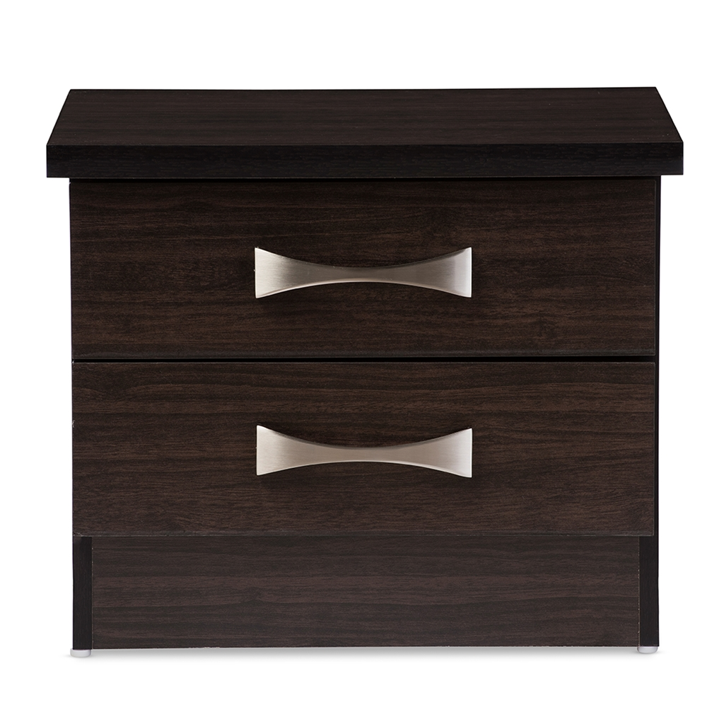 baxton studio colburn modern and contemporary 2-drawer dark brown