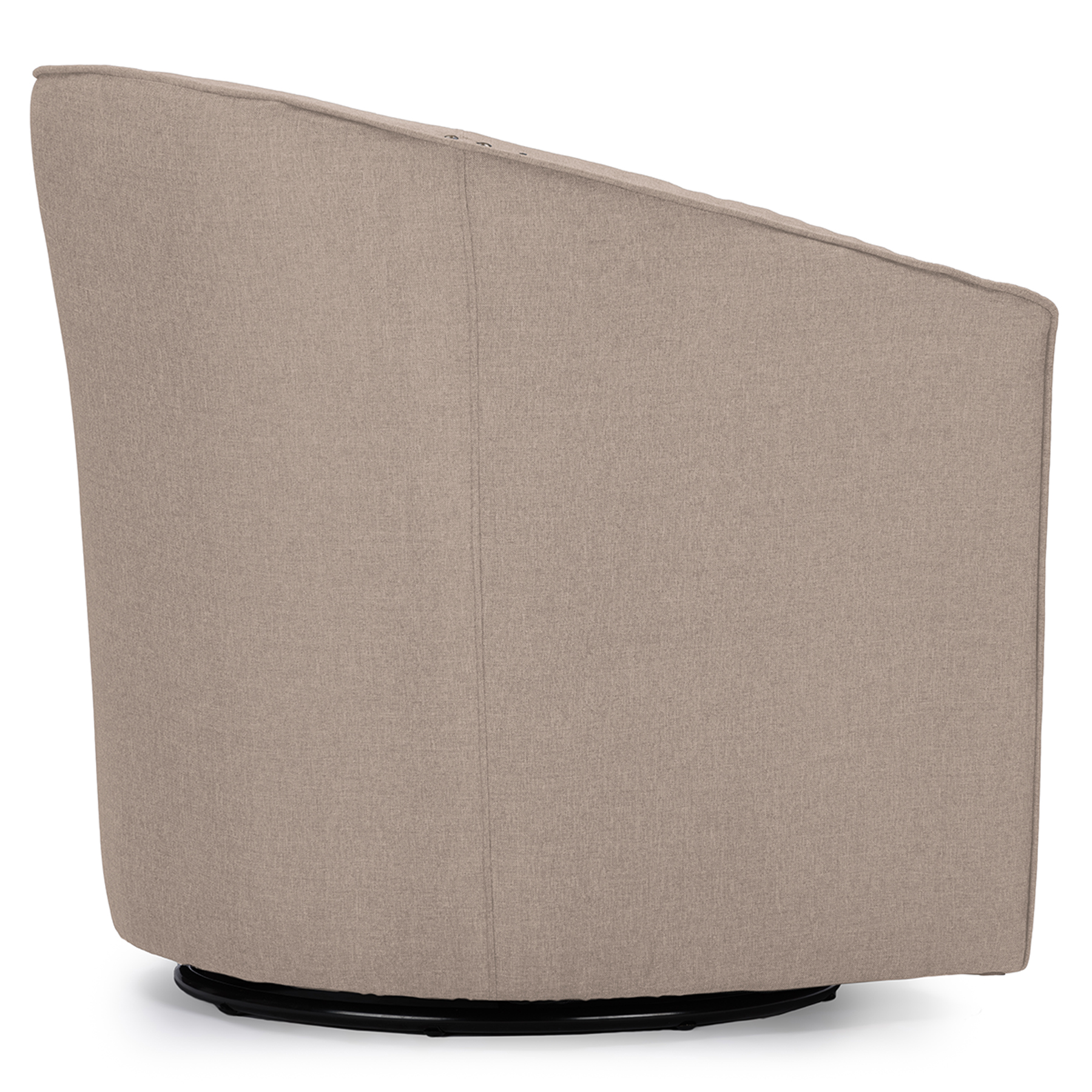 ... Baxton Studio Porter Modern And Contemporary Classic Retro Beige Fabric  Upholstered Swivel Tub Chair   BSODB ...