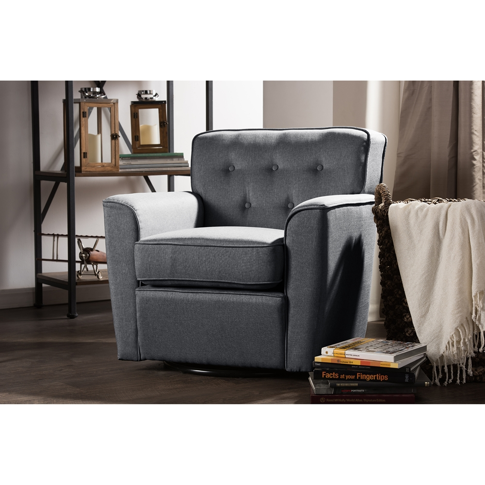 Baxton Studio Canberra Modern Retro Contemporary Grey