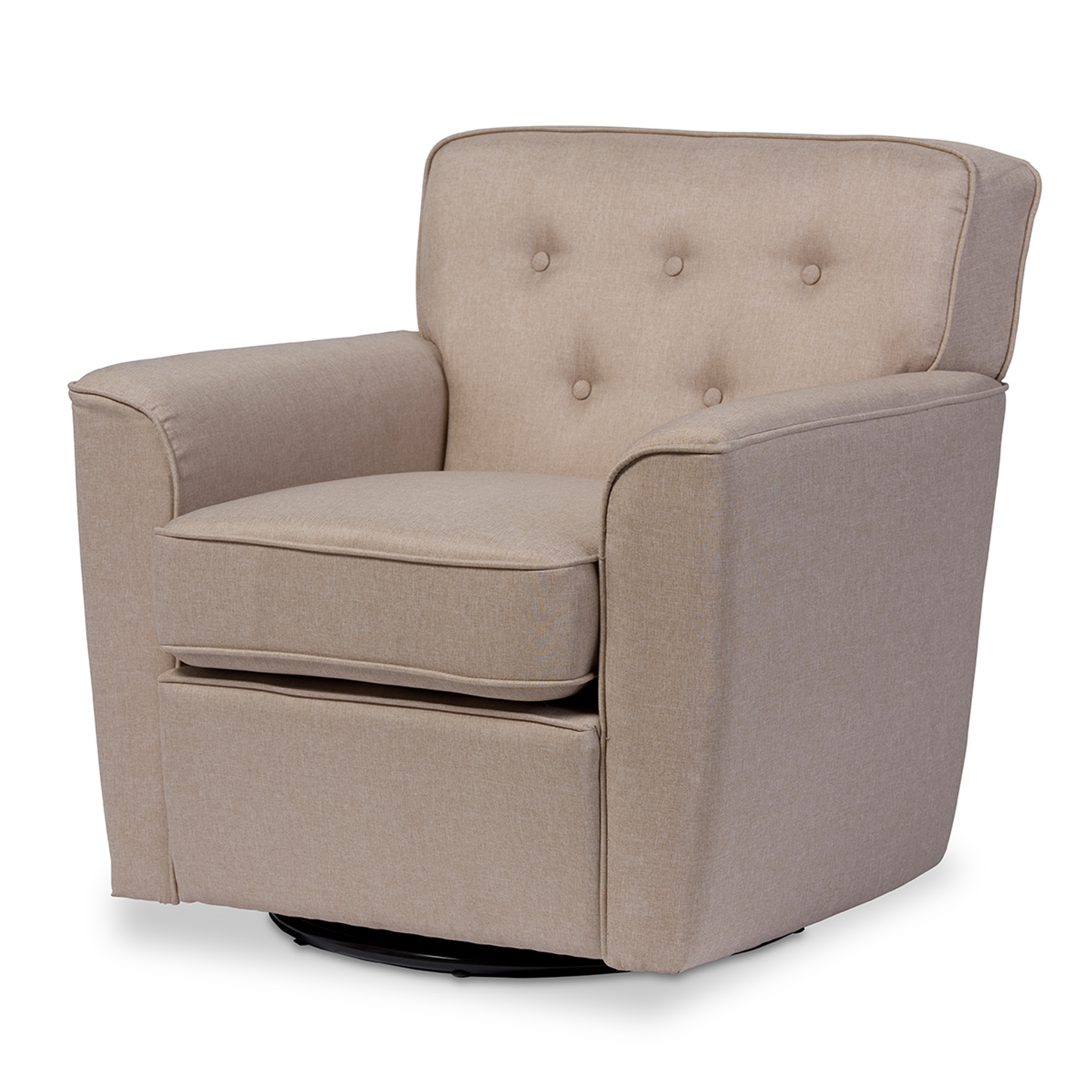 baxton studio canberra modern retro contemporary beige fabric
