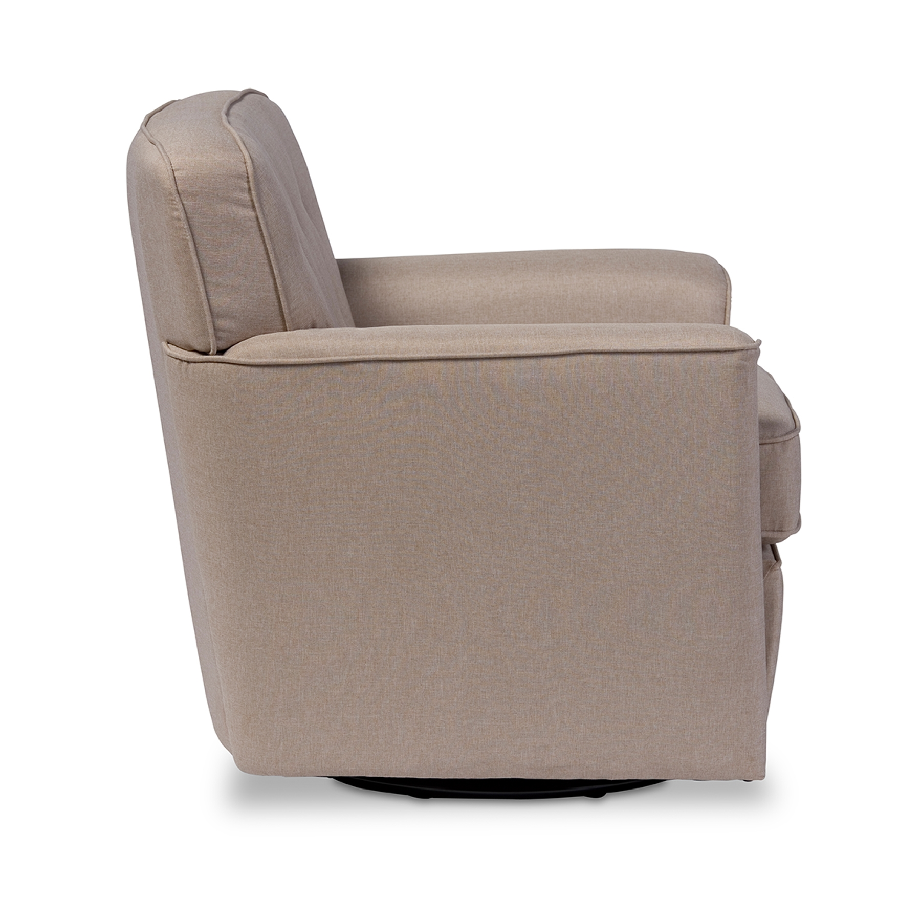 ... Baxton Studio Canberra Modern Retro Contemporary Beige Fabric Upholstered Button-tufted Swivel Lounge Chair with ...  sc 1 st  Baxton Studio Outlet & Baxton Studio Canberra Modern Retro Contemporary Beige Fabric ... islam-shia.org