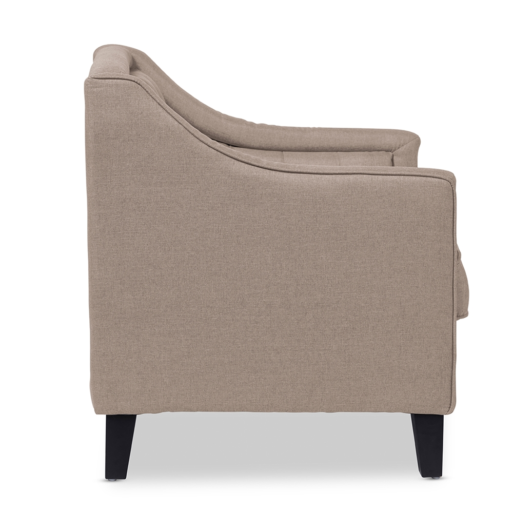 Beige Modern Armchair -  baxton studio vienna classic retro modern contemporary beige fabric upholstered button tufted armchair bsodb