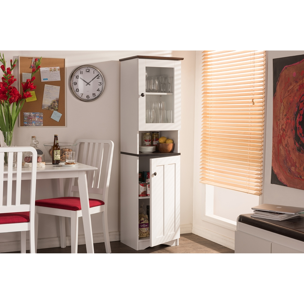 Wenge Wood Kitchen Cabinets Baxton Studio Lauren Modern And Contemporary Two Tone White And