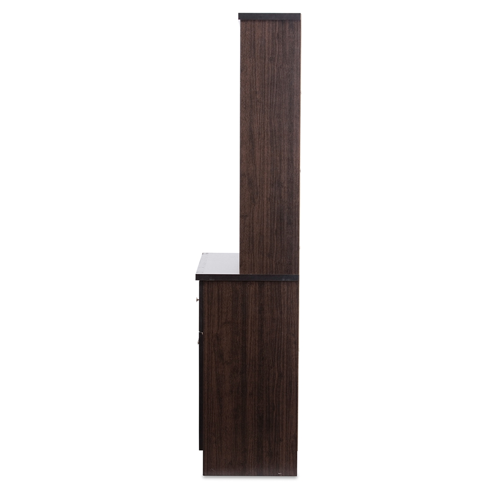Wenge Wood Kitchen Cabinets Baxton Studio Agni Modern And Contemporary Dark Brown Buffet And