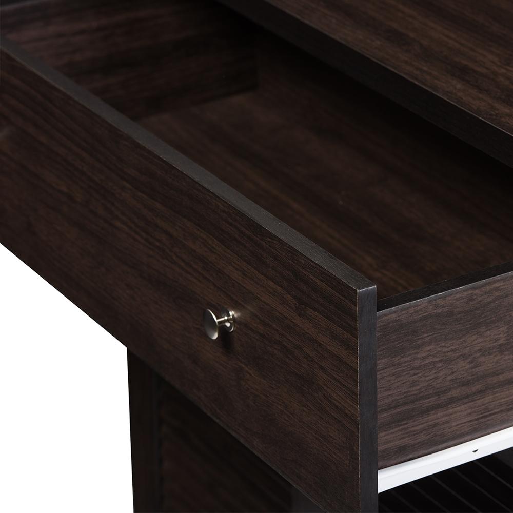 Baxton studio agni modern and contemporary dark brown for Modern dark brown kitchen cabinets