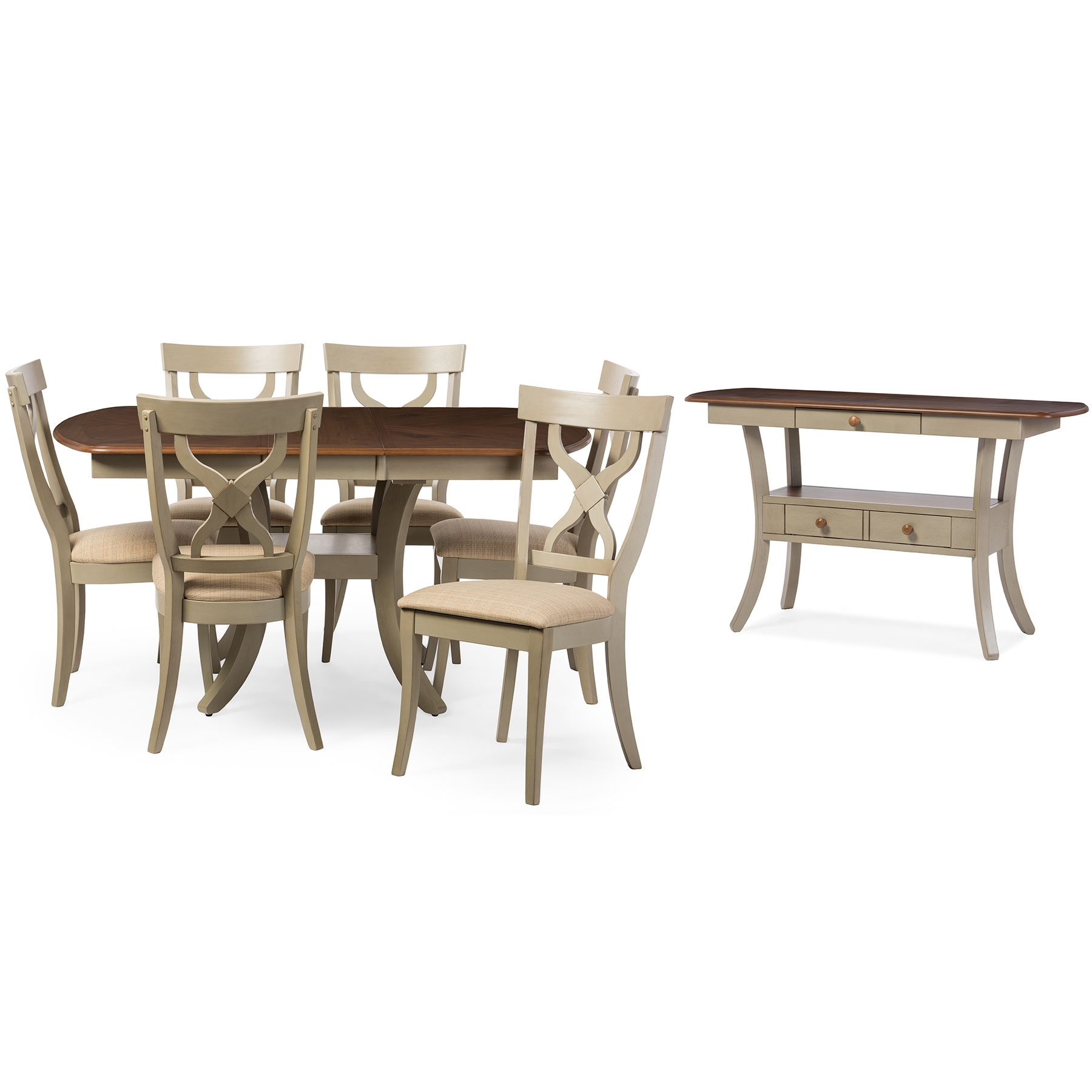 8 piece dining room set living room baxton studio balmoral chic country cottage antique oak wood and distressed light grey 8piece piece dining sets room furniture affordable modern