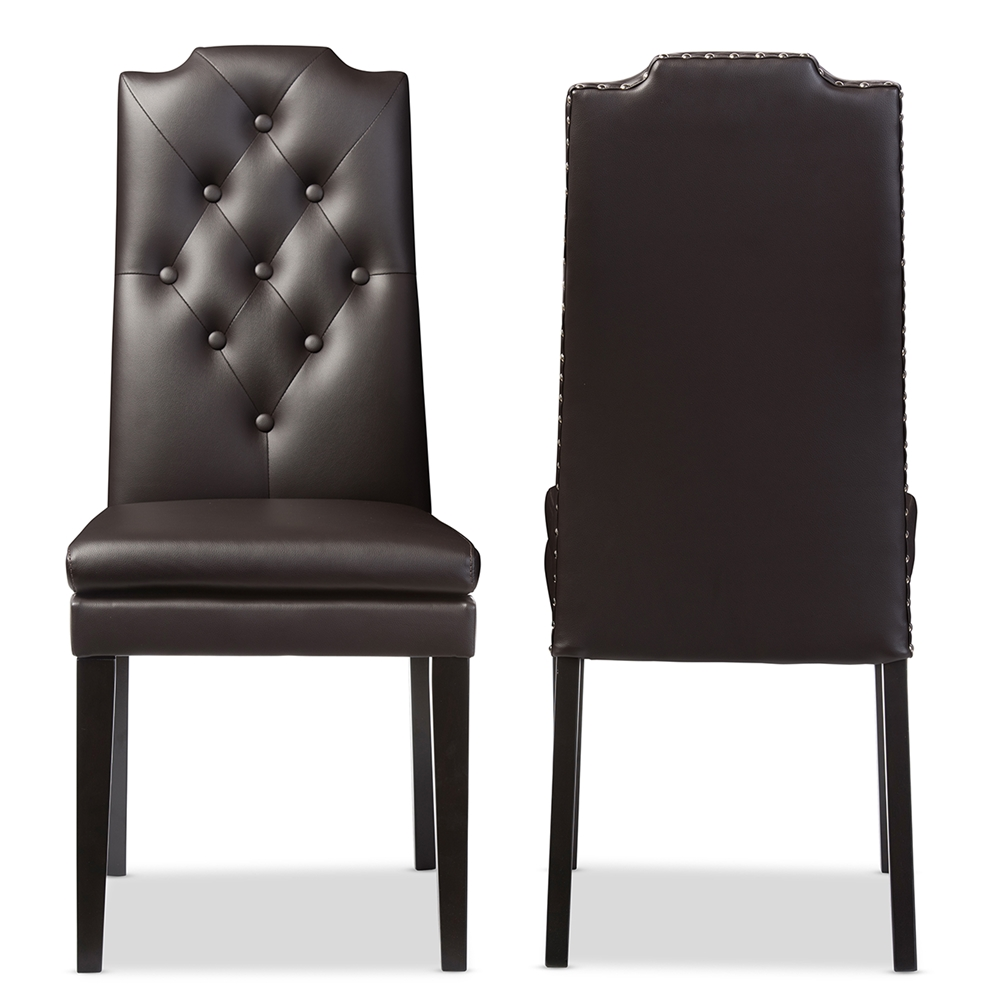 Baxton Studio Dylin Modern and Contemporary Dark Brown Faux ...