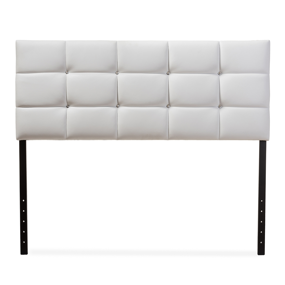 Baxton Studio Bordeaux Modern and Contemporary White Faux Leather ...