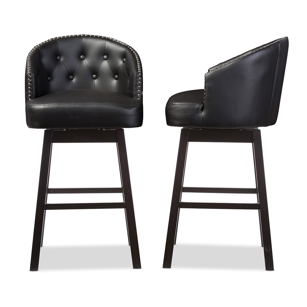 Baxton Studio Avril Modern And Contemporary Black Faux