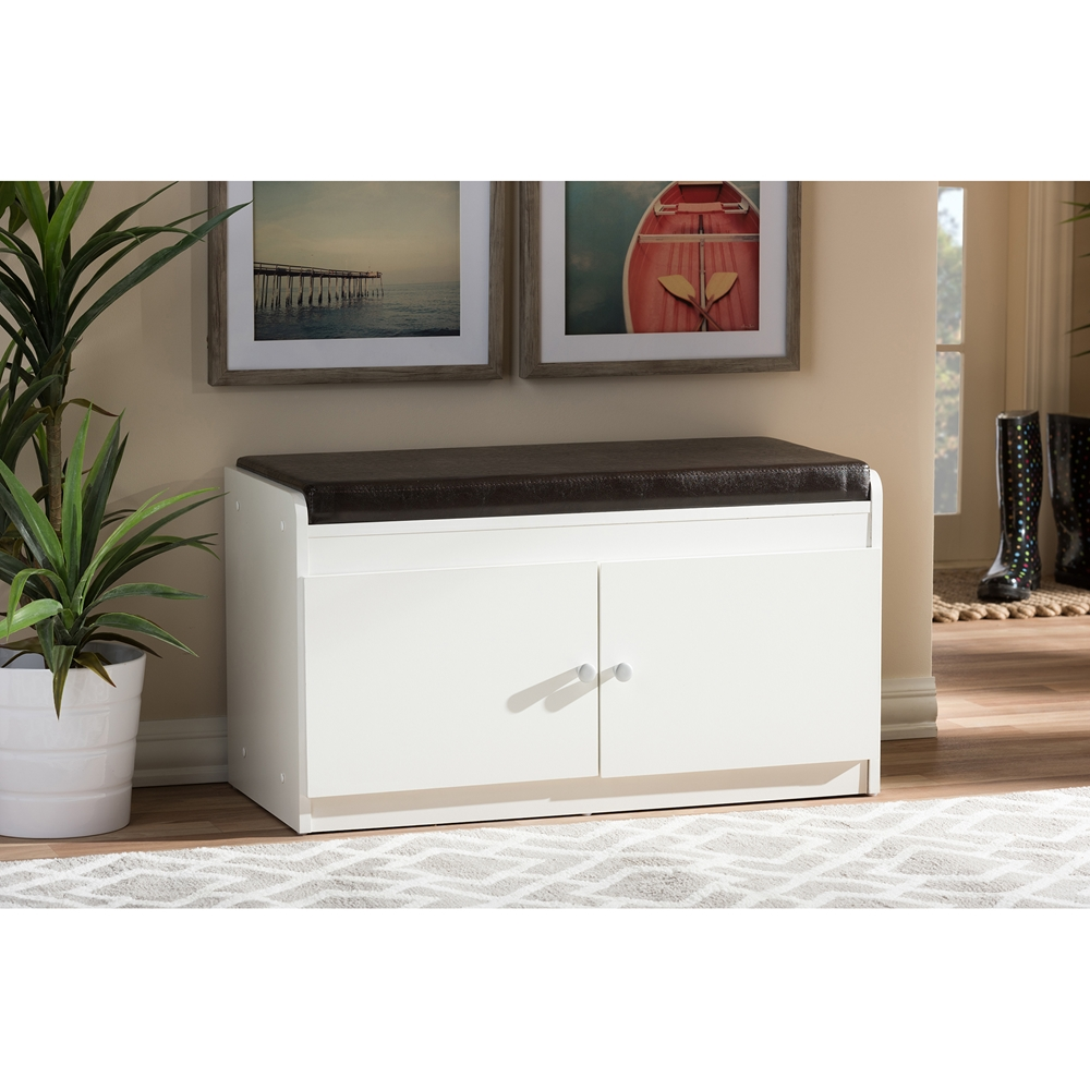 baxton studio margaret modern and contemporary white wood